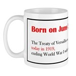 Mug: Treaty of Versailles was signed today in 1919
