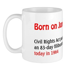 Mug: Civil Rights Act passed after an 83-day filib