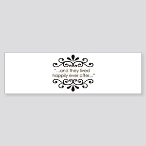 'Happily Ever After' Sticker (Bumper)