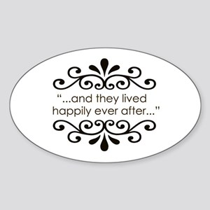 'Happily Ever After' Sticker (Oval)