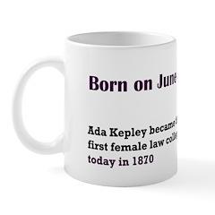 Mug: Ada Kepley became the first female law colleg