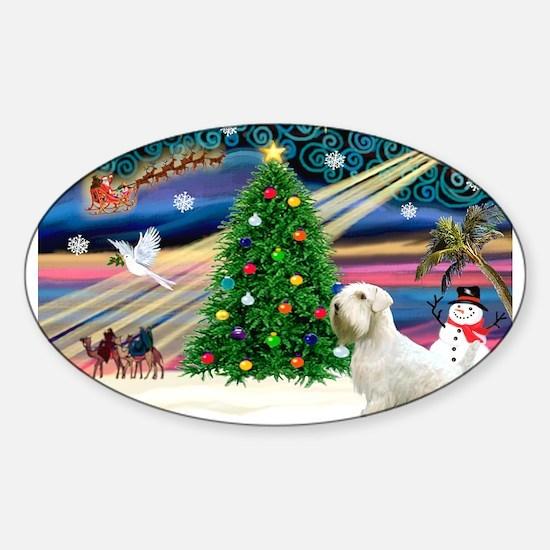 Xmas Magic / Sealyham Sticker (Oval)
