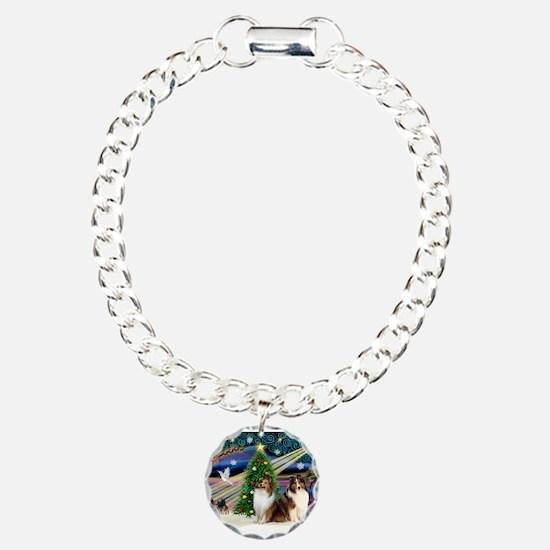 XmasMagic/2 Shelties-S Bracelet