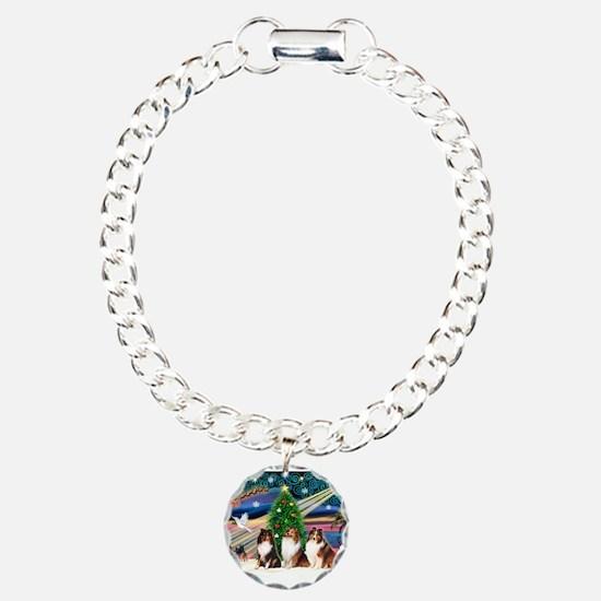 Xmas Magic/3 Shelties (T3) Bracelet
