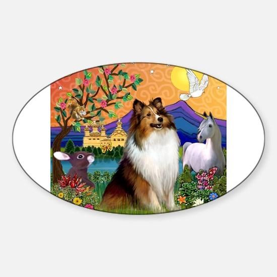 Fantasy Land Sheltie Sticker (Oval)