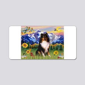 Mt. Country & Tri Shetland Sheepdog Aluminum Licen