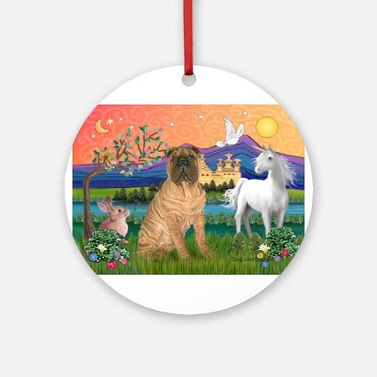 Fantasy Land /Shar Pei (#3) Ornament (Round)