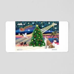 XmasMagic/Shiba Inu Aluminum License Plate