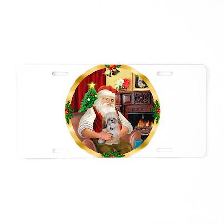 Santa's Shih Tzu (Paddy) Aluminum License Plate