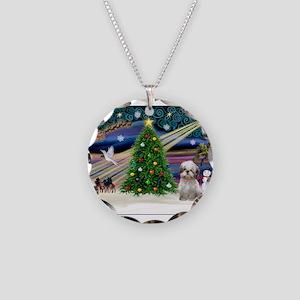 XmasMagic/Shih Tzu (15) Necklace Circle Charm