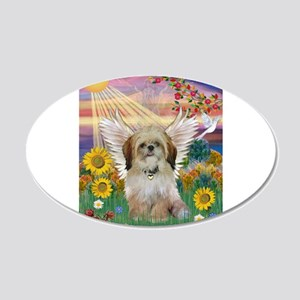 Autumn Sun & Shih Tzu 22x14 Oval Wall Peel