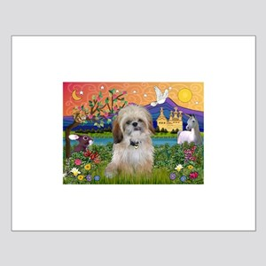Shih Tzu in Fantasy Land Small Poster