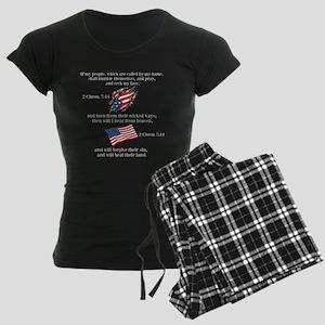 2 Chron. 7:14 Women's Dark Pajamas