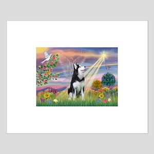 Cloud Angel & Siberian Husky Small Poster