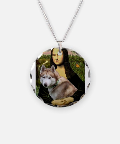 Mona & her Red Husky Necklace