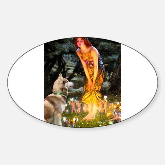 Midsummer's Eve Husky Sticker (Oval)