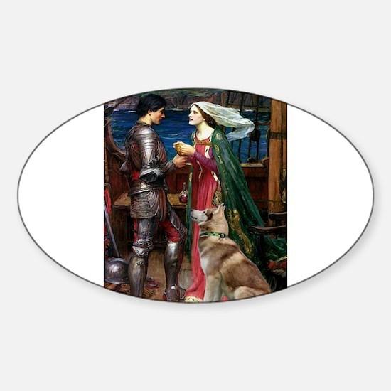 Tristan & Isolde Husky Sticker (Oval)