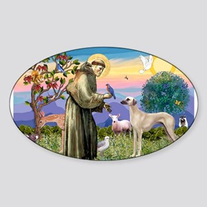 Saint Francis & Sloughi Sticker (Oval)