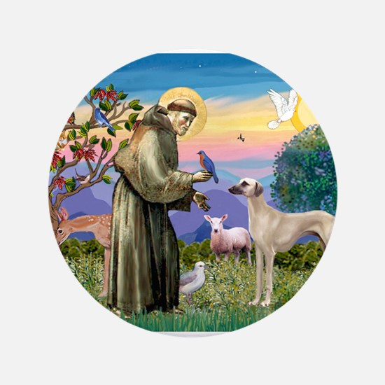 "Saint Francis & Sloughi 3.5"" Button"