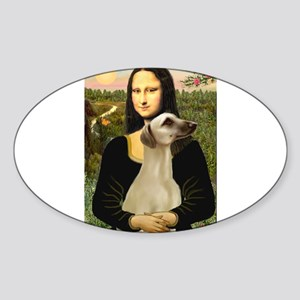 Mona Lisa's Sloughi Sticker (Oval)