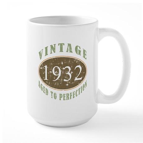 Vintage 1932 Aged To Perfection Large Mug