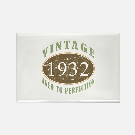 Vintage 1932 Aged To Perfection Rectangle Magnet (