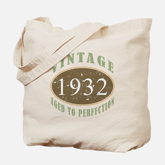 Vintage 1932 Aged To Perfection Tote Bag