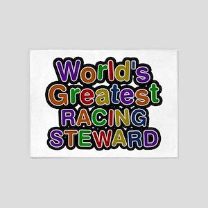 World's Greatest RACING STEWARD 5'x7' Area Rug