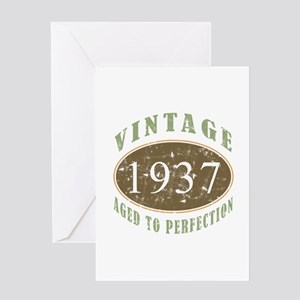 Vintage 1937 Aged To Perfection Greeting Card