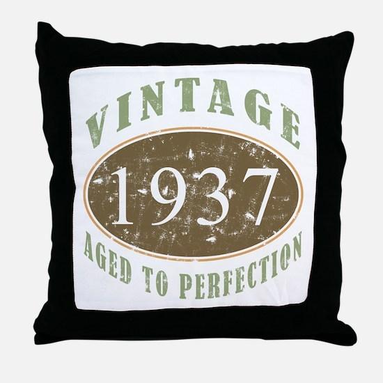 Vintage 1937 Aged To Perfection Throw Pillow