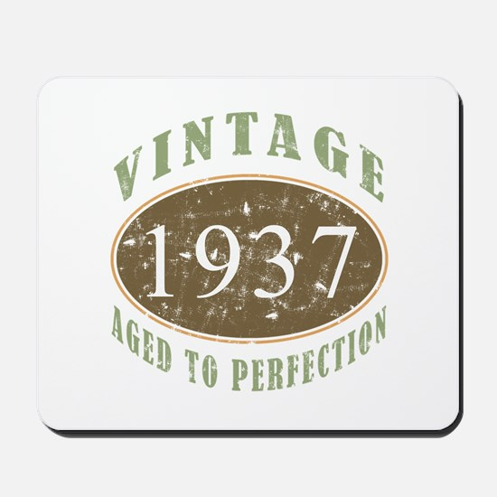 Vintage 1937 Aged To Perfection Mousepad