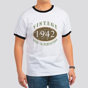 Vintage 1942 Aged To Perfection Ringer T