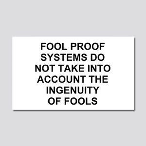 Ingenuity of Fools Car Magnet 20 x 12