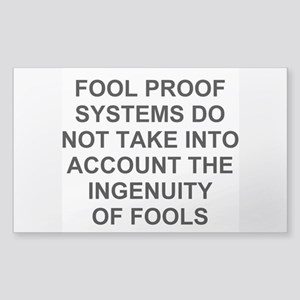 Ingenuity of Fools Sticker (Rectangle)
