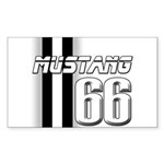 Mustang 66 Sticker (Rectangle 10 pk)
