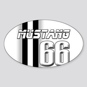 Mustang 66 Sticker (Oval)