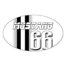 Mustang 66 Sticker (Oval)