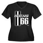 Mustang 66 Women's Plus Size V-Neck Dark T-Shirt