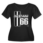 Mustang 66 Women's Plus Size Scoop Neck Dark T-Shi