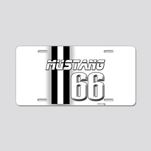 Mustang 66 Aluminum License Plate