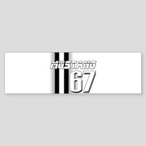Mustang 67 Sticker (Bumper)