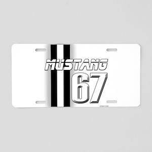 Mustang 67 Aluminum License Plate
