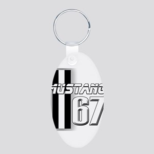 Mustang 67 Aluminum Oval Keychain