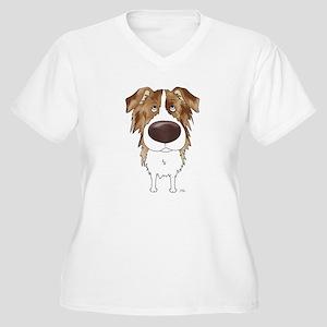 Big Nose Aussie Women's Plus Size V-Neck T-Shirt