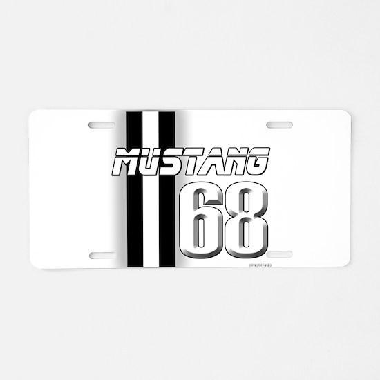Mustang 68 Aluminum License Plate