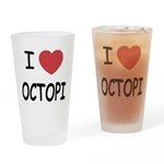 I heart octopi Drinking Glass