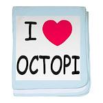 I heart octopi baby blanket