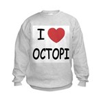 I heart octopi Kids Sweatshirt