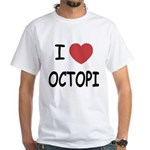 I heart octopi White T-Shirt