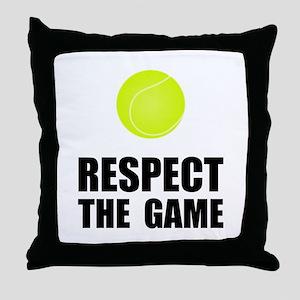 Respect Tennis Throw Pillow